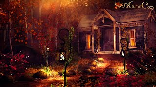 COZY COTTAGE AMBIENCE ASMR: Night Sounds, Water Sounds, Chimes, Crunching