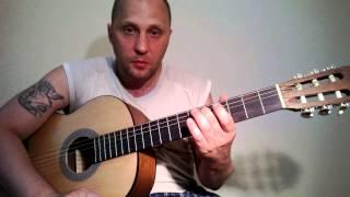 Простая ,красивая мелодия на гитаре.Урок