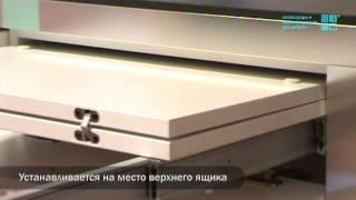 видео Выдвижной стол для маленьких размеров кухни