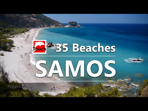 35 Best Beaches of SAMOS, Greece ► 11 minutes HD