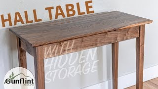 Making A Hall Table With Built In Storage