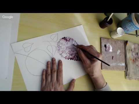 видео: Рисуем с Зинаидой Голубевой. Сирень плоской кистью за 15 минут.