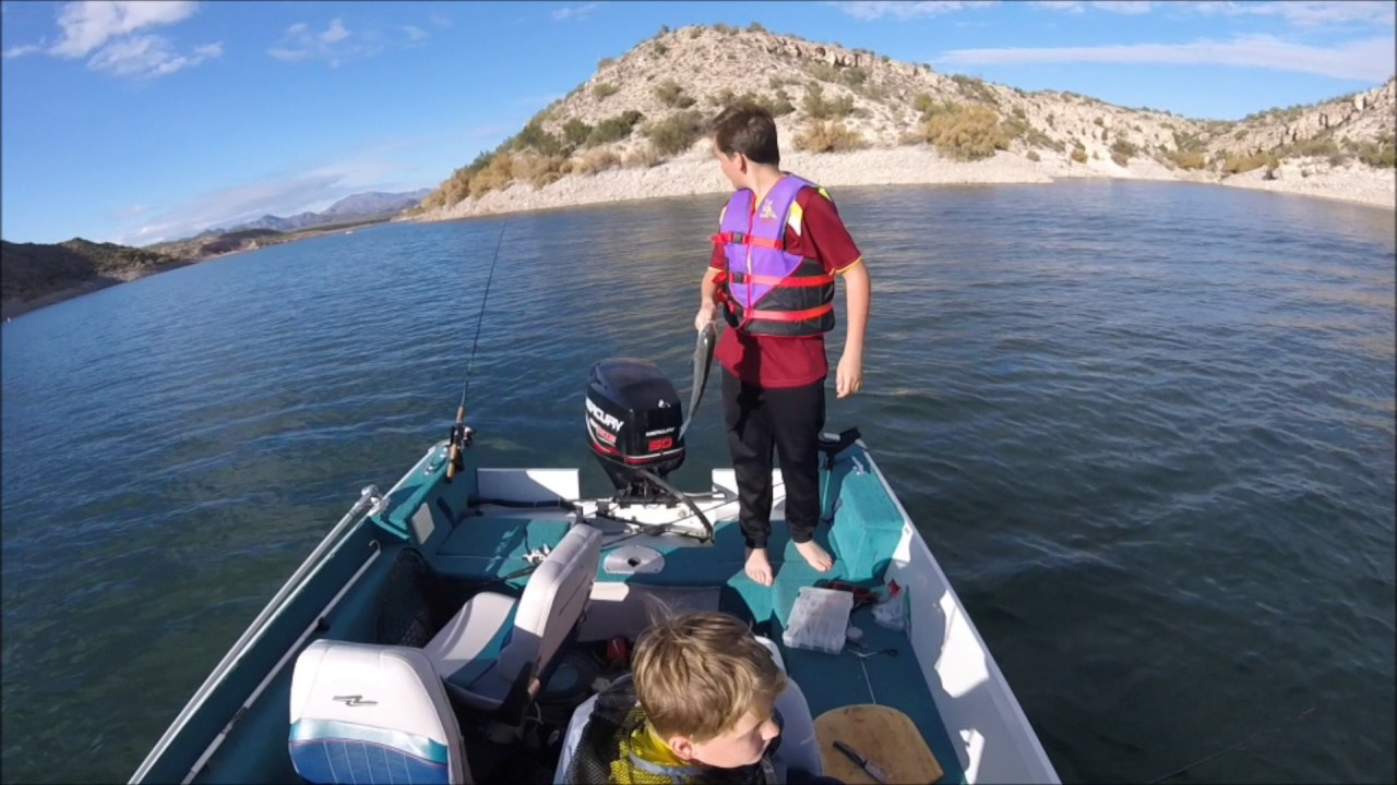 Arizona striper and crappie fishing solid day at lake for Lake pleasant az fishing