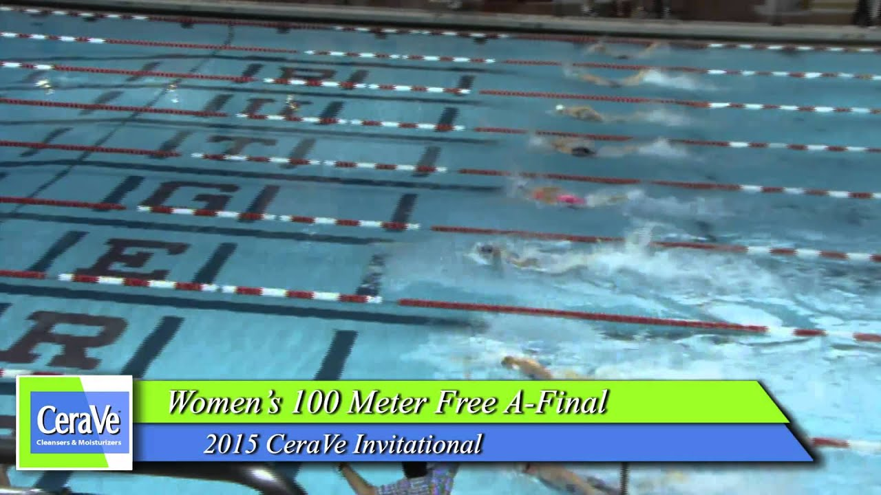 Women's 100 Meter Freestyle A Final - YouTube