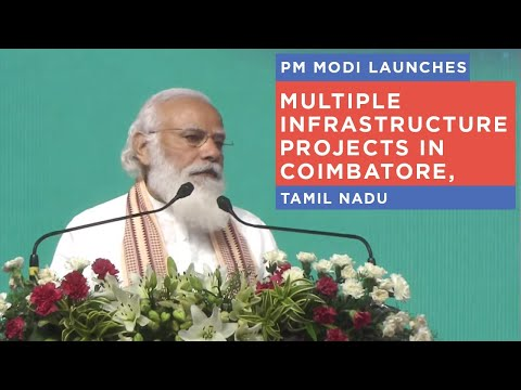 PM Modi launches multiple infrastructure projects in Coimbatore, Tamil Nadu
