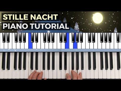 Stille Nacht heilige Nacht Piano Tutorial - schwierigere Version - nur für Fortgeschrittene