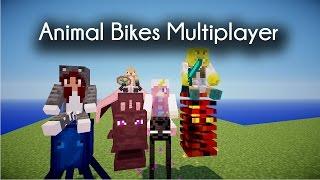 A HALLOWEEN REINDEER! - Minecraft Animal Bikes Mod W/LDShadowlady, Yammyxox & Smallishbeans