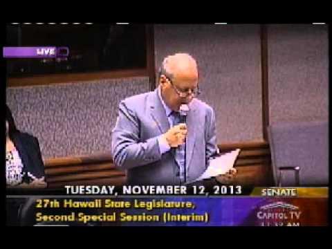 Hawaii SB1 HD1 Senate Vote Nov 12, 2013
