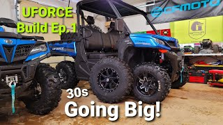 Installing 30 inch Tires on CFMOTO UFORCE 1000 | 2021 UFORCE Build Ep.1
