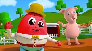 Шалтай-Болтай Сб на стене | Питомник рифмы | Baby Song | Farmees Rhyme | Humpty Dumpty Sat On a Wall thumbnail
