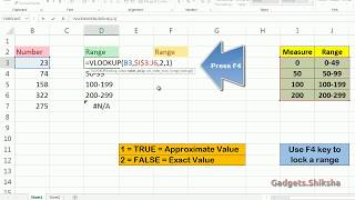 How to use Vlookup for Giving range to numbers? | Easy Excel Tricks
