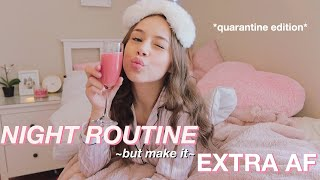 trying to have the most *EXTRA* night routine! || ft. foreo ufo