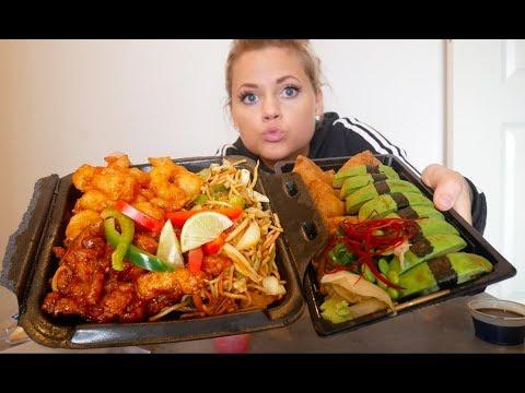 EN STOR GRISIG MUKBANG!! Sushi & Chop Chop!!