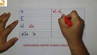 E Ve L Seslesi Birleştirme Ve Dikte Çalışması-yardımcı Öğretmen