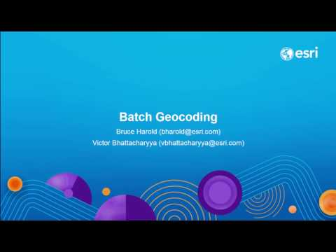 Batch Geocoding with ArcGIS