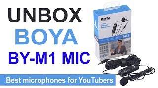 Best Mic for YouTube with Smartphone & Dslr Camera ! unbox boya by-mi mic in Nepal