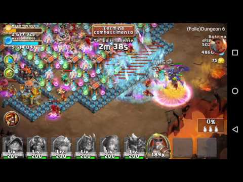 Castle Clash - Insane Dungeon 6-4 (3 Flames)