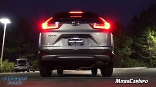 AT NIGHT: 2017 Honda CR-V LX Interior and Exterior Lighting