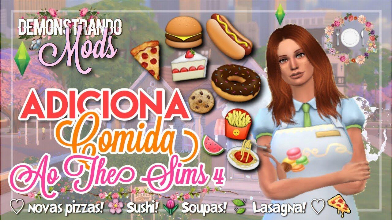 MOD QUE ADICIONA COMIDA (lasanha, pizzas, sushi,    ) | The Sims 4