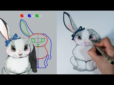 Вопрос: Как нарисовать кролика?