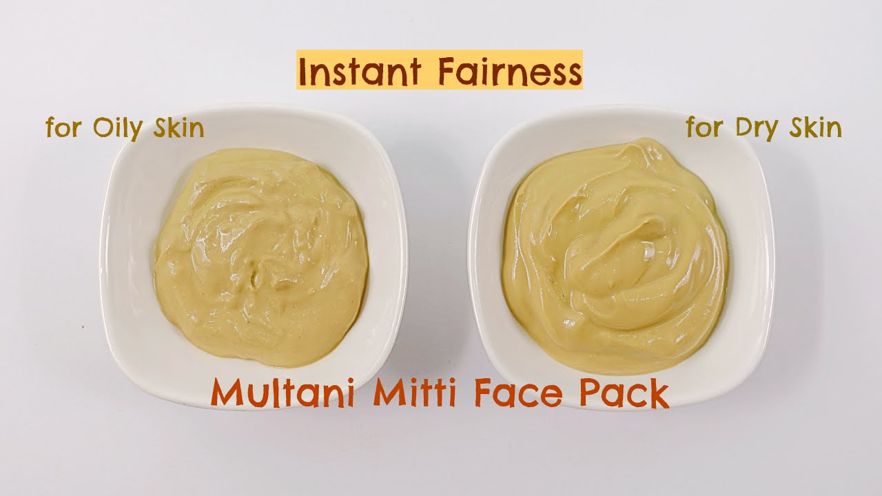 Multani Mitti Face Pack For Instant Fairness And Crystal Clear Skin