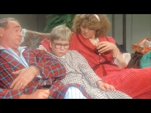 A Christmas Story. Ralphie opens up his Red Ryder BB Gun grift from Santa