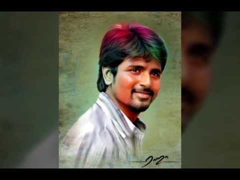 digital painting tamil actor by Raja Tamil