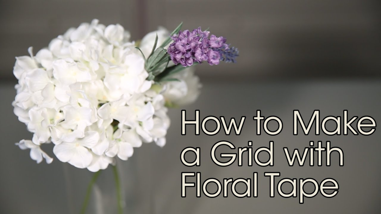 how to make a grid with floral tape basic floral techniques youtube