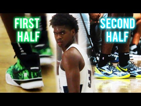Josh Christopher CHANGES SHOES AT HALFTIME!!! GETS HEATED VS UNLV Commit!!
