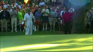tiger woods chips in at the 16th masters memories 2005
