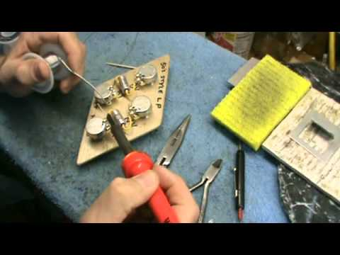 diy video soldering up a 50s style les paul wiring harness. Black Bedroom Furniture Sets. Home Design Ideas