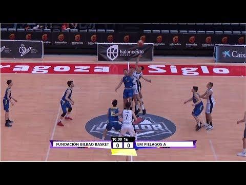 U18M - BILBAO BASKET Vs EM PIELAGOS.- Cpto. España Junior. Zaragoza 2019 (BasketCantera.TV)