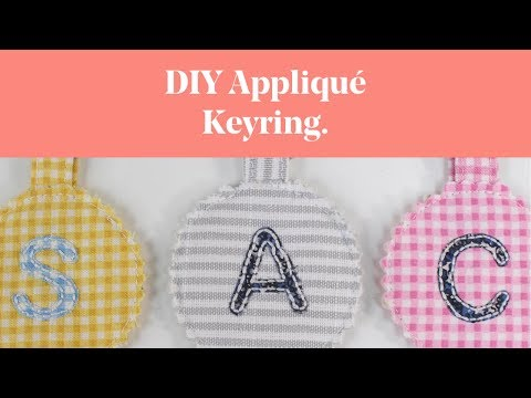 DIY Appliqué Keyring