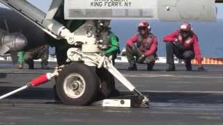Flight Deck Operations on board Nimitz-Class Aircraft Carrier USS John C. Stennis, CVN 74