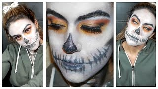 Glowing Eyes Skull makeup tutorial