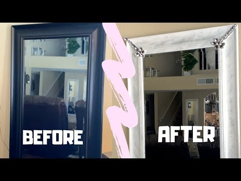DIY: PAINTING A MIRROR FRAME | HOW TO CHANGE MIRROR FRAME COLOR