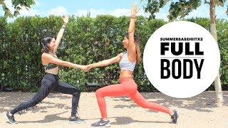 Full Body 15 minute HIIT workout SummerBabeHIITx2