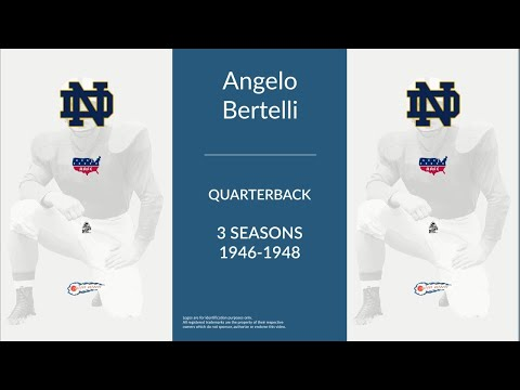 Angelo Bertelli: Football Quarterback