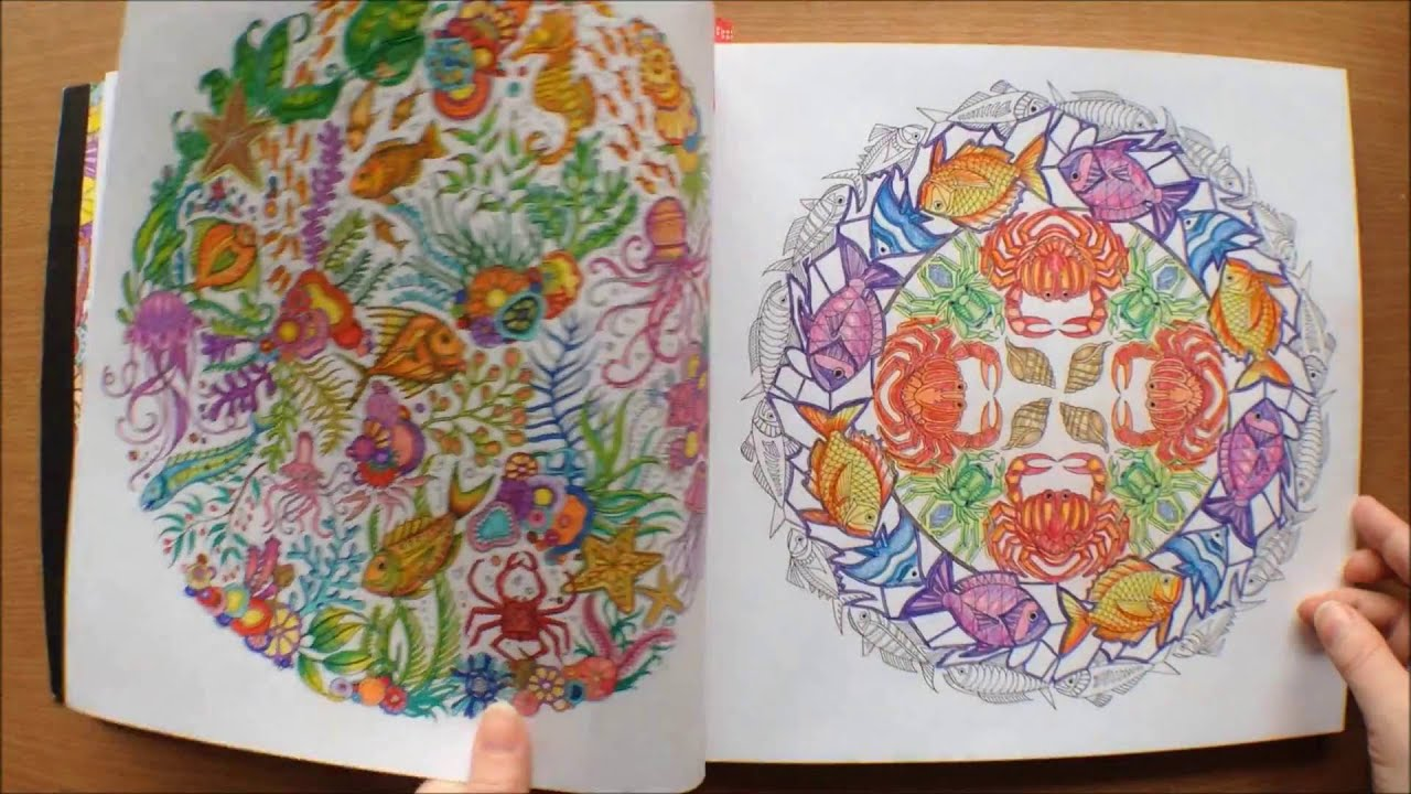 Lost Ocean By Johanna Basford Colouring Book Flipthrough