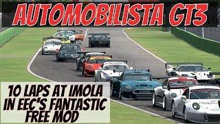 Automobilista AMS EEC GT3 Race at Imola [Gameplay & Replay]