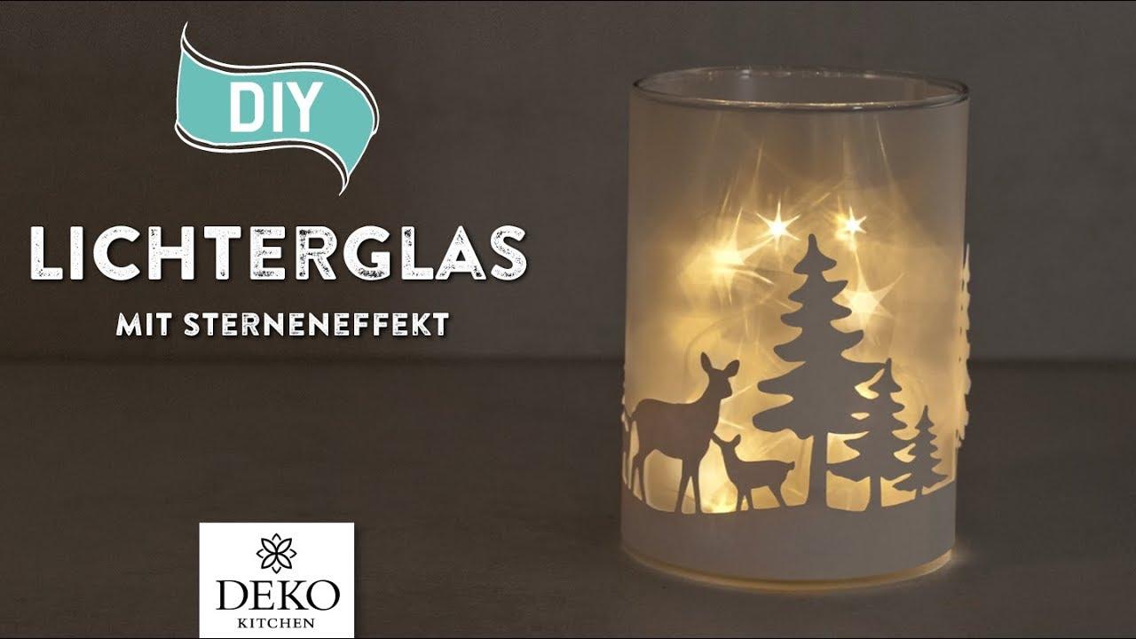 Diy Hubsche Weihnachtsdeko Mit Sterneneffekt How To Deko Kitchen