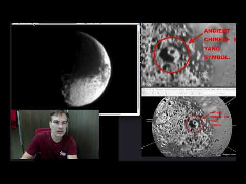 nouvel ordre mondial | Two Alien Symbols discovered...Yin Yang...On Saturn Moon Iapetus - April 2018