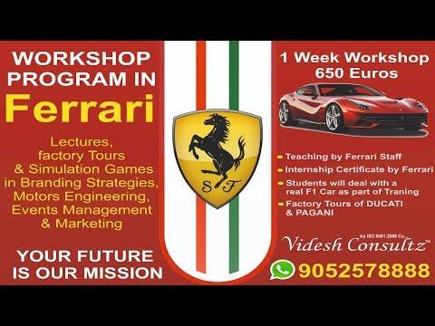 Ferrari Manufacturing Factory Tour Italy - Videsh Consultz