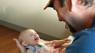 Baby's first big laugh with Daddy Yo