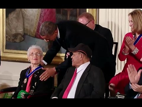 """Hidden Figures"" Katherine Johnson Awarded Presidential Medal Of Freedom In 2015"