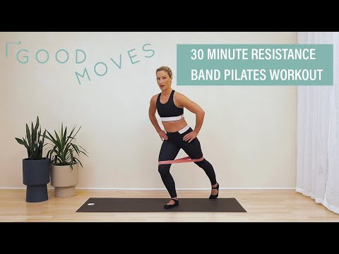 30 Minute Resistance Band Pilates Workout | Good Moves | Well+Good