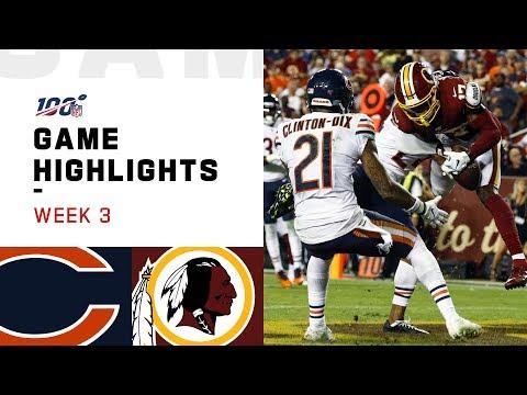 Bears vs. Redskins Week 3 Highlights | NFL 2019