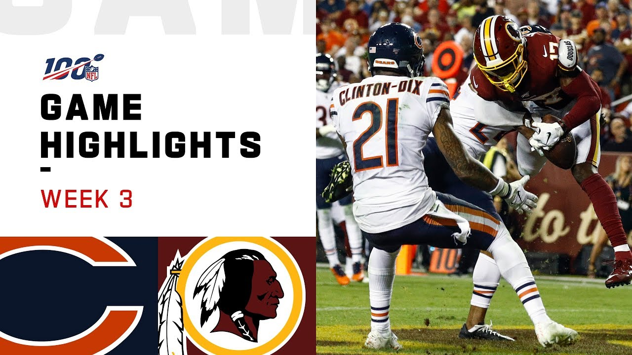 Bears vs. Redskins: Final score and highlights for Week 3