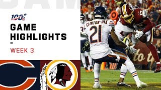 Bears vs. Redskins Week 3 Highlights | NFL 2019