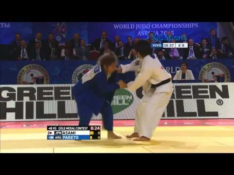 [Judo] Paula Pareto (-48kg.) campeona del mundo en Mundial de Kazajistán